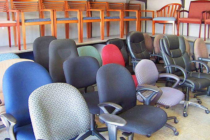 Buy used office chairs to set up an   office