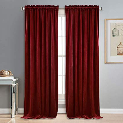 Amazon.com: NICETOWN Red Velvet Curtains and Drapes for Bedroom