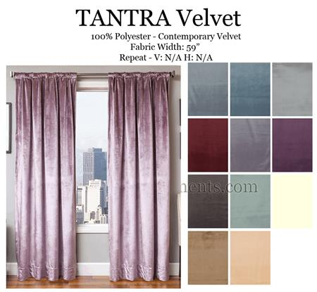 Tantra Velvet Curtains | Bestwindowtreatments.com