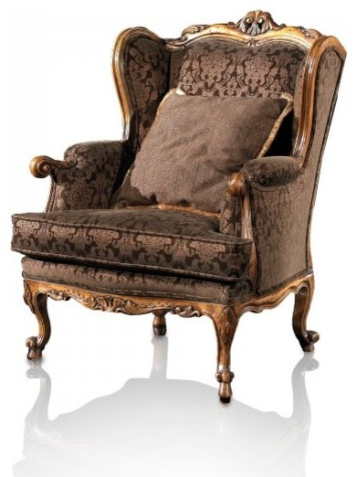 Foretti Bergere Armchair - Victorian - Armchairs And Accent Chairs