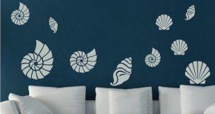 Seashell Wall Art Decals - Trendy Wall Designs