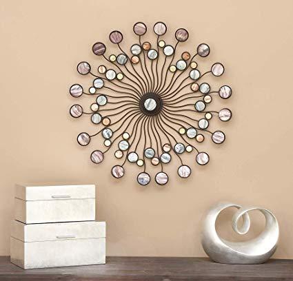 Amazon.com: Deco 79 13533 Metal Wall Modern Iron Starburst Wall