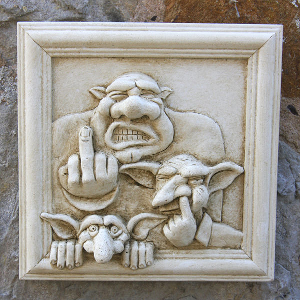GOBLIN FAMILY WALL Plaque - Garden Wall Plaques Find Mythical