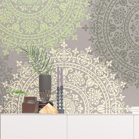 Wall Stencil Medallion - Original And Unique Wall Stencil - Reusable