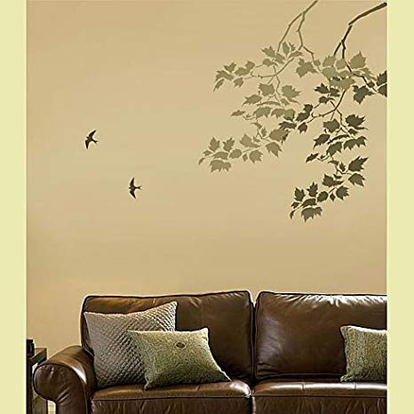 Amazon.com: Wall Stencils Sycamore Weeping Branch - Reusable