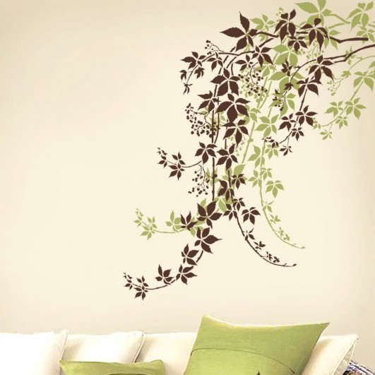 Elegant Vine stencil for easy wall decor. Modern wall stencils for DIY