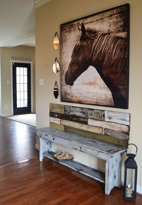Cowboy Western Home Decor : Rustic Spot For Shoes Cowboy Western
