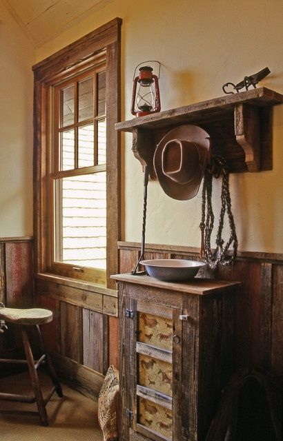 Western Home Decorating Ideas | wood paneling and window frame