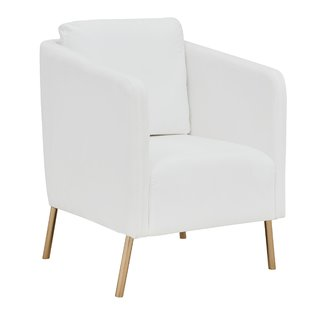 Modern Gold White Accent Chairs | AllModern