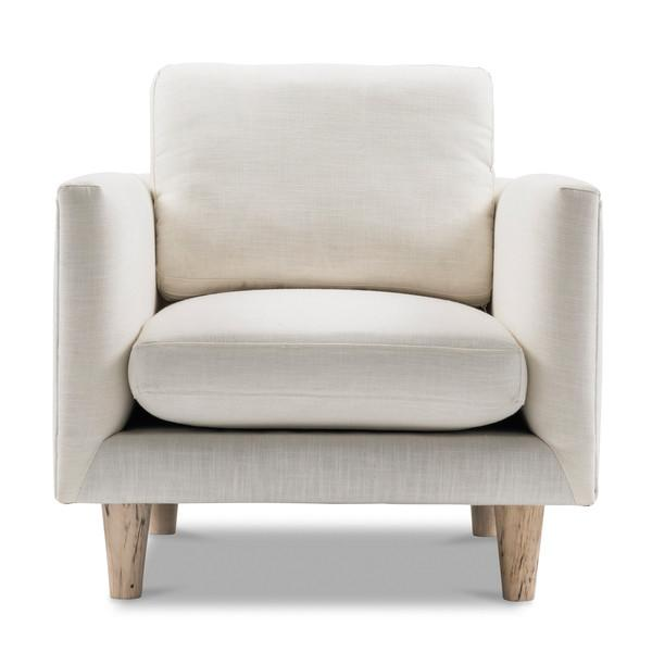 1-Seater Scandinavian White Armchair | Harpers Project
