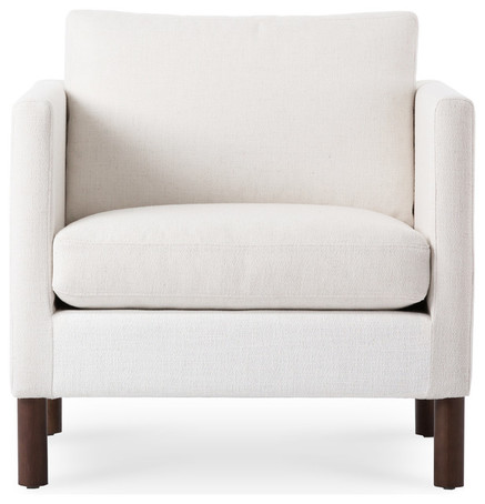 NOVA CREAMY WHITE ARMCHAIR - CONTEMPORARY - ARMCHAIRS AND ACCENT
