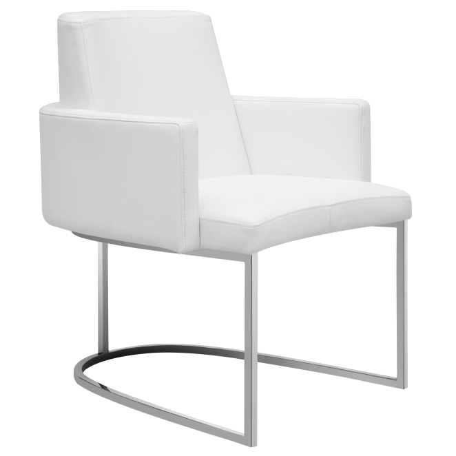 Modern Dining Chairs | Chichi White Armchair | Eurway