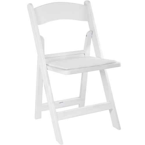 White Resin Folding Chair for Weddings | CTC Event Furniture