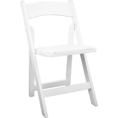 White Wood Folding Wedding Chair | Padded Wedding Chairs For Sale