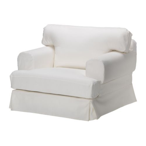 Ikea Hovasthe white comfy chair I want Width: 41 3/4