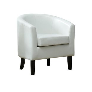 White Leather Barcelona Chair | Wayfair