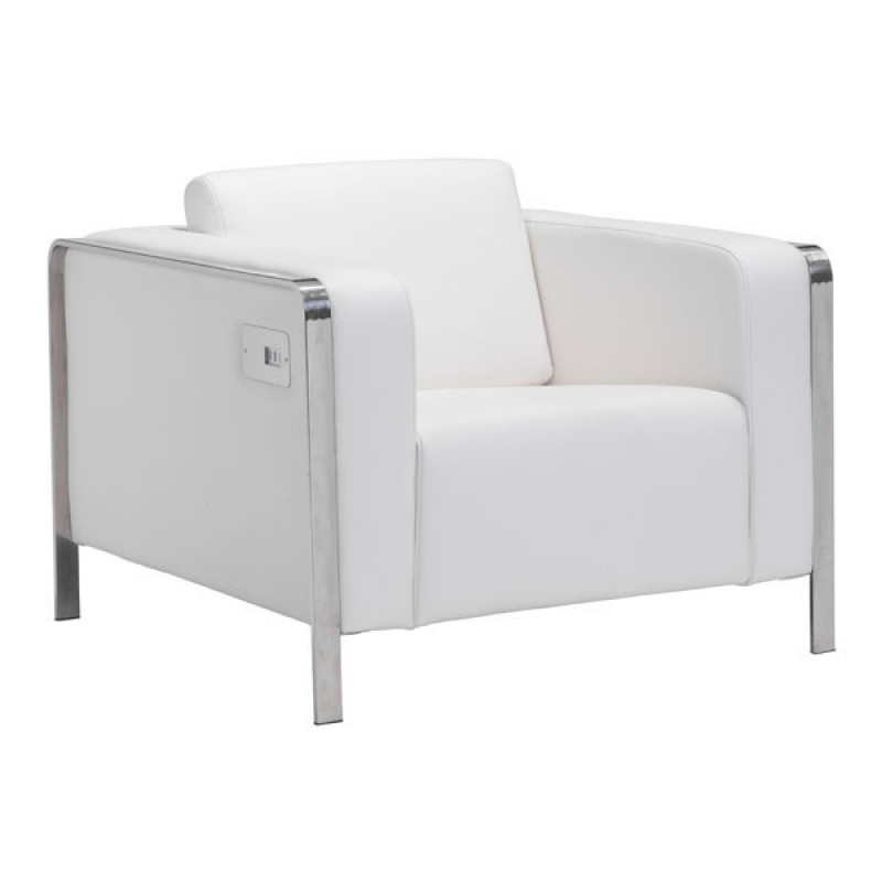 White Comfy Chair For Living Room Indoor Living Room Chairs For