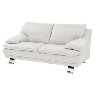 Gertrudes White Leather Loveseat | El Dorado Furniture