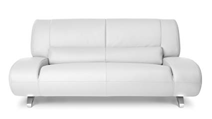 Amazon.com: Zuri Furniture Modern Aspen White Microfiber Leather