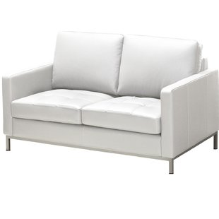 White Leather Loveseats You'll Love | Wayfair