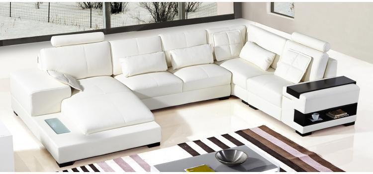 DreamFurniture.com - Divani Casa Diamond Modern White Leather
