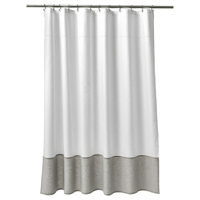 Oxford Stitch Shower Curtain White/Gray - Fieldcrest® : Target