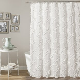 White Shower Curtains You'll Love | Wayfair