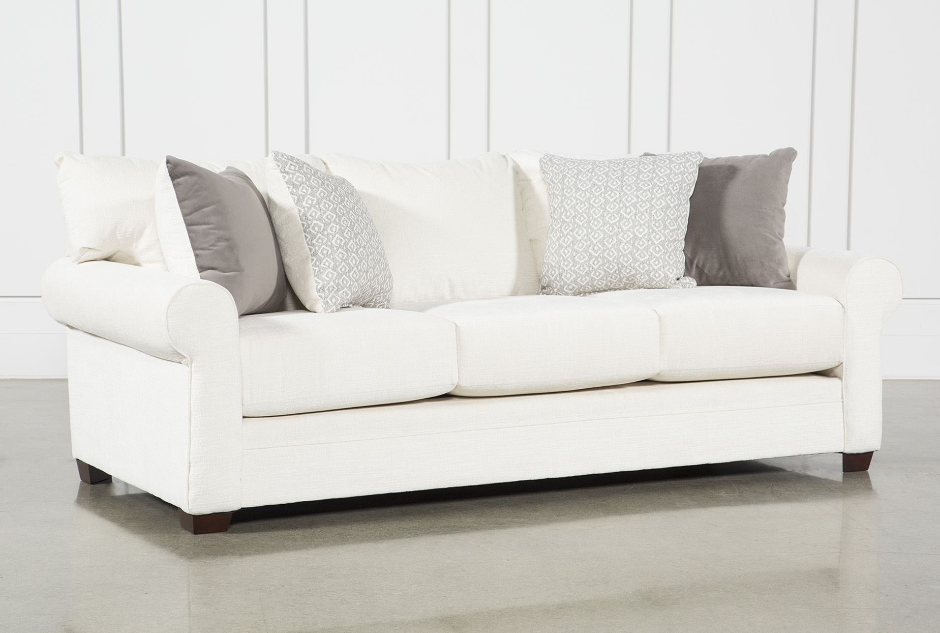 Pros and cons of buying the white sofa   and loveseat