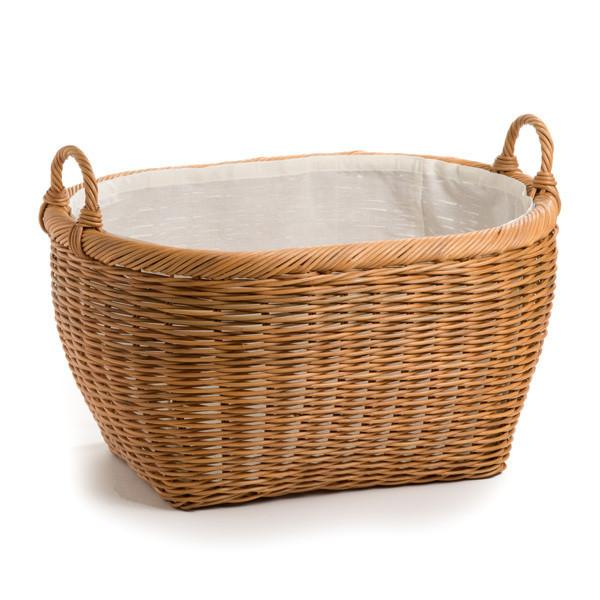 Oval Wicker Laundry Basket | Storage Basket | The Basket Lady
