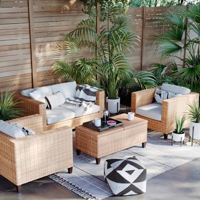 Fullerton Wicker Patio Storage Side Table - Project 62™ : Target