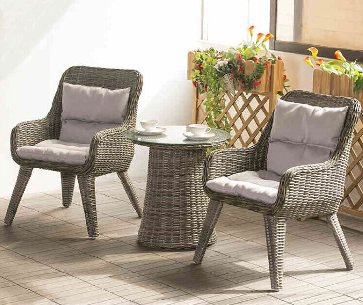 Factory direct sale Wicker Patio Furniture Lounge Chair Chat Set