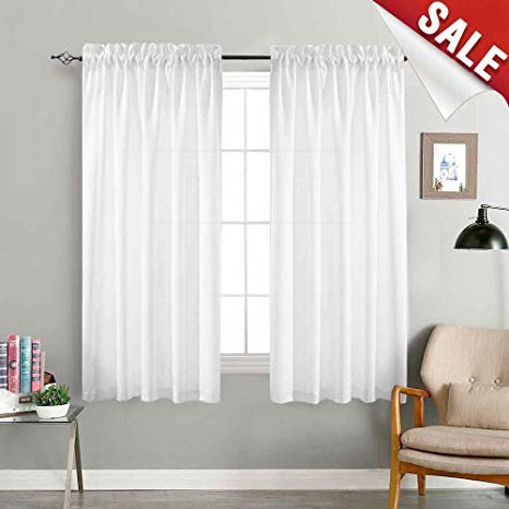 Amazon.com: Privacy Semi Sheer Curtains for Bedroom Casual Weave