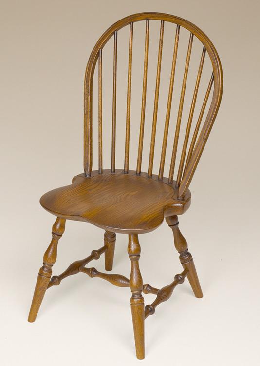 Oak Bow-Back Side Windsor Chair