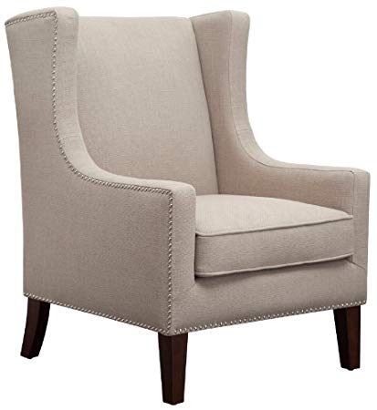 Amazon.com: Barton Lindy Linen Upholstered Wingback Armchair