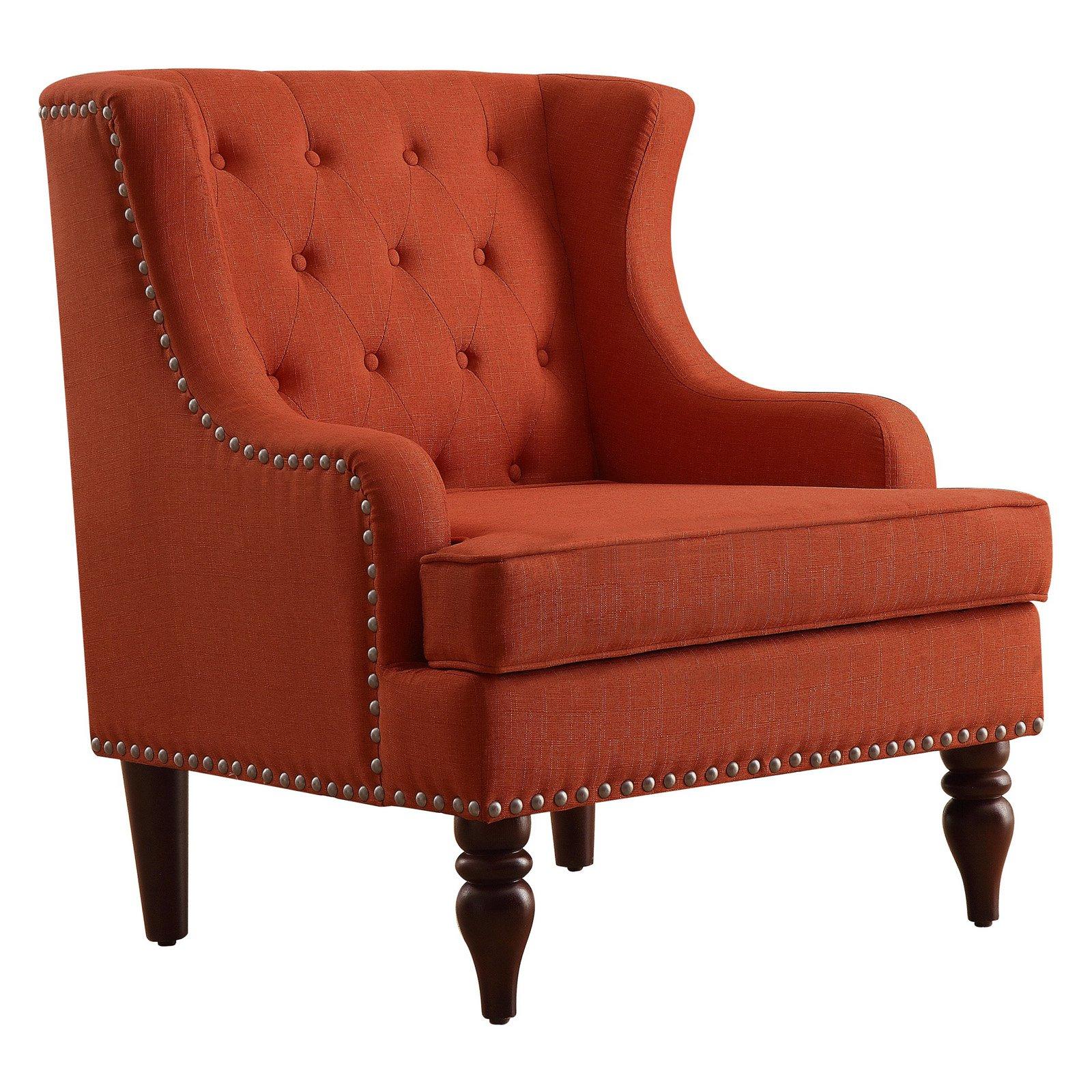 Rosevera Carafa Tufted Wingback Armchair - Walmart.com