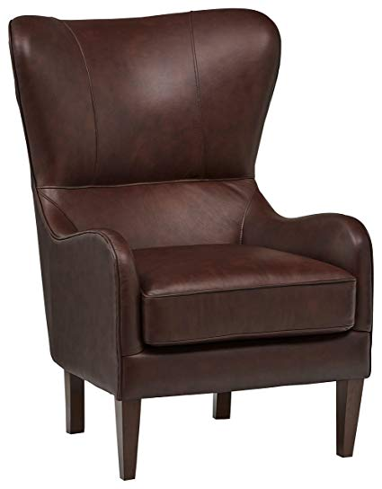 Amazon.com: Stone & Beam Mid-Century Modern Leather Wingback Chair