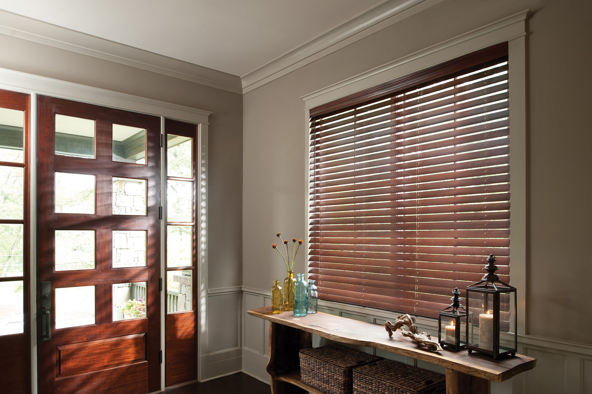 Wood blinds to introduce Organic look in  my living area