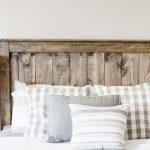 Install a Wood headboard