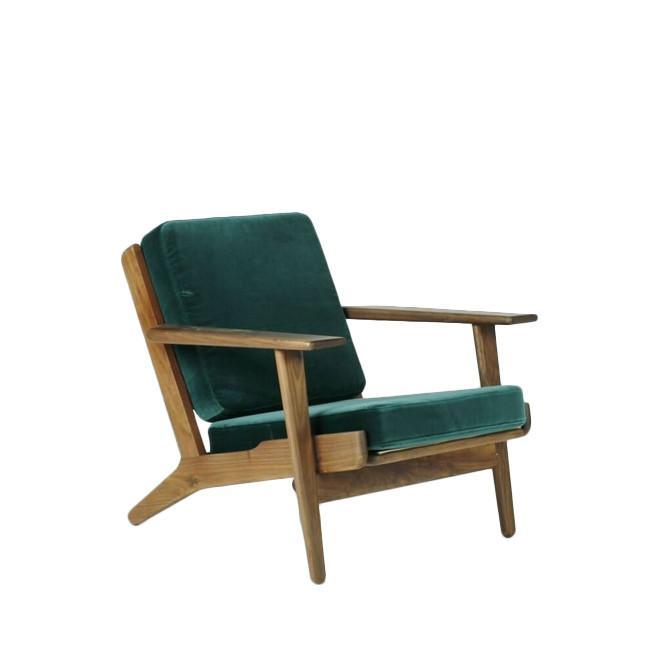 Milton A - Modern Walnut Lounge Chair, Modern Wooden Armchair