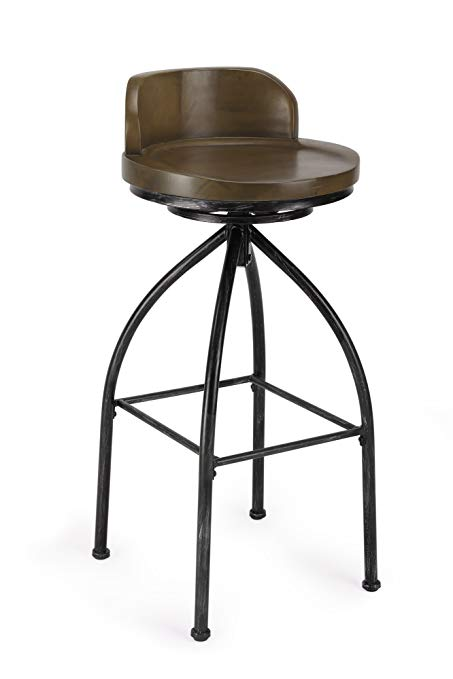 Amazon.com: FIVEGIVEN Swivel Bar Stool Wood and Metal Stool with