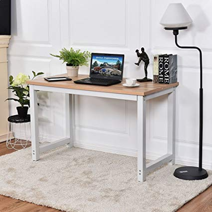 Amazon.com: CHEFJOY Computer Desk PC Laptop Table Wood Work-Station