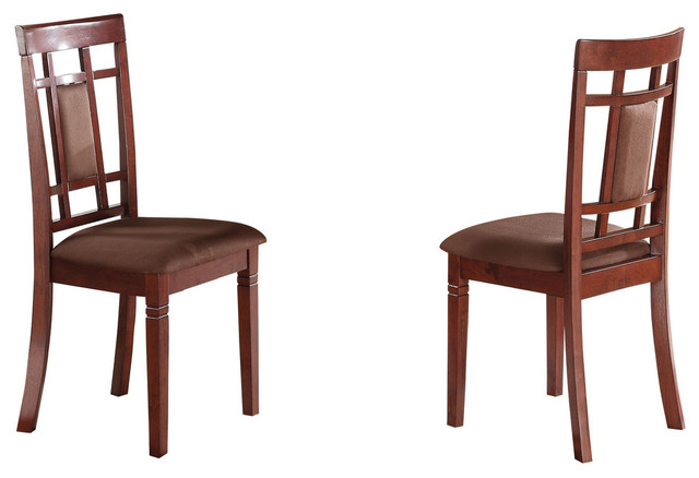 Sonata Side Chair, Cherry and Chocolate Mfb, Set of 2 - Transitional