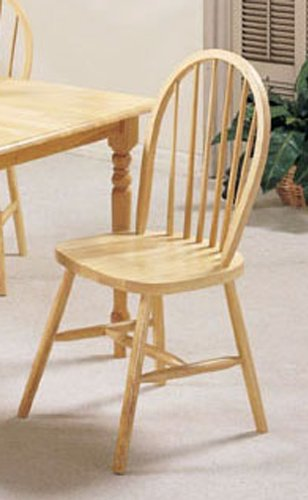 Amazon.com - Set of 4 Natural Finish Farm House Wood Dining Chair