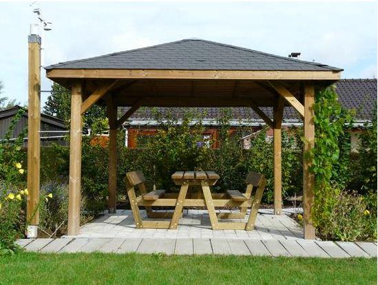 Log Cabin: Wooden gazebo maintenance | Quick Garden