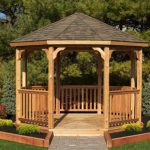 Wooden gazebos for various uses