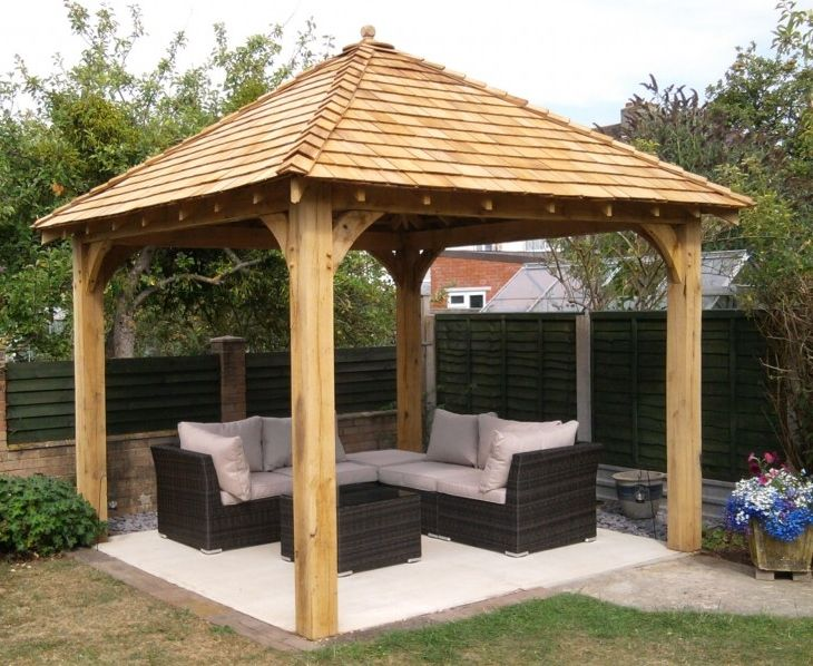 wooden gazebo www.glenfort.com | outdoor spaces | Backyard gazebo