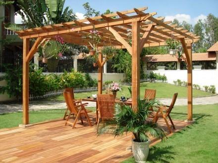 Garden Wooden Pavilion Gazebo at Rs 2800 /square feet | लकड़ी