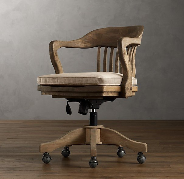 Wooden Swivel Office Chair - Ideas on Foter