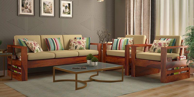 Wooden Sofa Set: Buy Wooden Sofa Set Online in India Upto 55% OFF