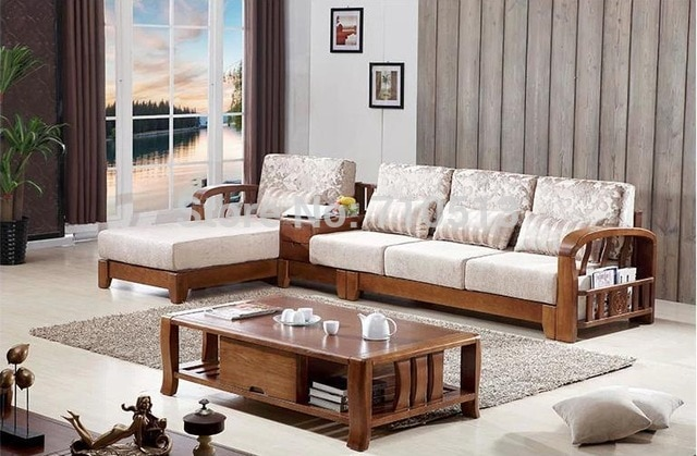 wooden sofa set wood sofa set for home-in Living Room Sofas from
